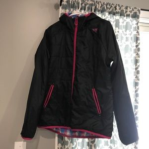 adidas Jackets & Coats - Adidas Plaid/Black Reversible Jacket